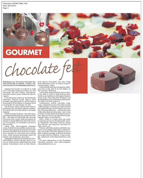 Wired Communications - Winelands Chocolate Festival